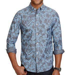 Nautica Blue  Floral Printed Button Down Shirt